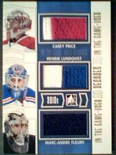 CAREY PRICE /H. LUNDQVIST /M.A. FLEURY  AUTHENTIC PIECES OF GAME-USED JERSEY/10