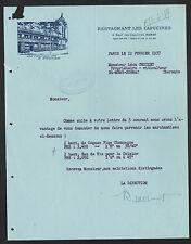 """PARIS (IX°) RESTAURANT """"LES CAPUCINES"""" prés du CINEMA PARAMOUNT en 1937"""