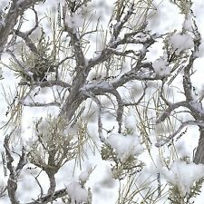 TRUE TIMBER CAMOUFLAGE #3358 SNOW NATURE OUTDOORS WHITE COTTON SEW BTY SC FABRIC