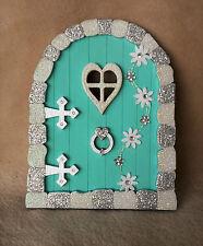 Handpainted & Decorated Glitter 'Frozen' Inspired fairy, faerie, pixie elf door