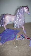 2005 Mattel Barbie Magic of Pegasus BRIETTA Light up Crown Horse NICE! w/ Pieces