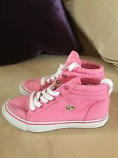 Lacoste - girls pink hi tops, size 12