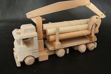 Handmade ecological truck with wood car vintage toy natural wooden decoupage