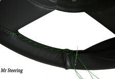 FITS DAF 95 XF 97-05 TRUCK REAL LEATHER STEERING WHEEL COVER GREEN STITCHING NEW