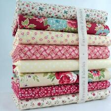 8 X FQ BUNDLE - MAKOWER ALL MY LOVE RED FLORAL with dots 100% COTTON FABRIC