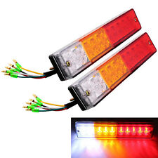 2x Rear Lamps Tail Lights Boat Trailer UTE Camper Truck Van Indicator LED 12V