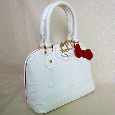 HelloKitty Handbag Tote Shoulder Bag 2017  New  Pu Bow White Small Size