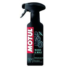 MOTUL E1 WASH & WAX DEGREASER DETERGENT CLEANER a DRY with WAX for car