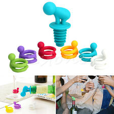 7 Pcs/Set Dedicated Cup Wine Glass Silicone Label Rubber Marker Bottle Stopper
