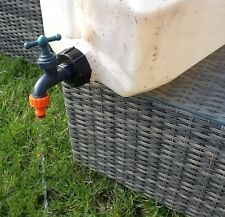 IBC STILLAGE TANK DRAIN TAP GARDEN BARREL BUTT CONTAINER WATER HOSE PIPE FITTING