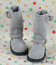 ☆╮Cool Cat╭☆【10-09】Blythe Pullip Doll Boots # Pewter