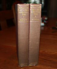 Variation Animals and Plants Under Domestication Charles Darwin 2 Vol. Set 1898