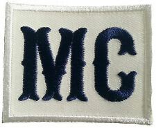 "Motorcycle Club MC Anarchy Rebell Outlaw Biker Logo Patch 2.5 x 2"" Navy/White"