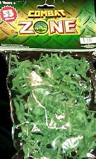Combat Zone Military Army Soldier 53 Piece Green Figure Collectible Toy NIB #Q*