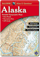 NEW Delorme Alaska AK Atlas and Gazetteer Topo Road Map Topographic Maps