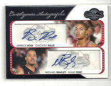 2008/2009 TOPPS COSIGNERS DERRICK ROSE & MICHAEL BEASLEY DUAL ROOKIE AUTO 21/43