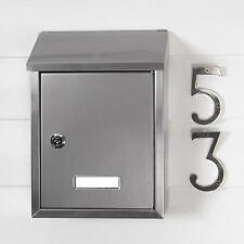 Signature Hardware Smart Locking Wall Mount Mailbox Stainless Steel