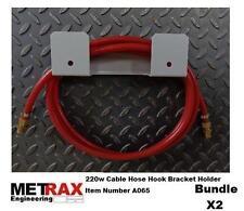 2x 220w Cable Hose Bracket Holder - T5 Van Workshop Storage Race Truck Karting