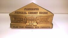 "Building Bank ""Parmauto Federal Credit Union"" (Cleveland, OH) Chalk, 3 1/2"" Tall"