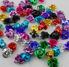 Free 200pcs Mixed Aluminum Rose Spacer Beads For Jewelry Making Findings 7x5mm