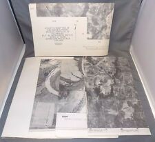 Lot of 5 WWII US Army Corps Aerial Photos / Student Maps of Fort Benning, GA