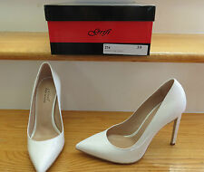 GRIFI HANDMADE IN ITALY WHITE PATENT STILETTO PUMP SIZE 39 = NEW IN BOX =