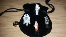Masonic Star Wars Lapel pin set, Obi Wan Kenobi, Chewbacca, R2D2, Luke Skywalker