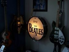 """Deluxe Beatles Ludwig 20"""" Bass Drum Lamp Black Oyster Pearl Ringo Promark Sticks"""