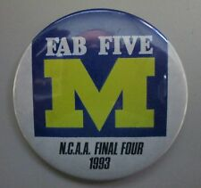 Fab Five 1993 NCAA Final Four Button University of Michigan Wolverines U of M