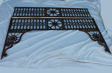 Antique Oak Stick and Ball Victorian Fretwork with Side Pieces