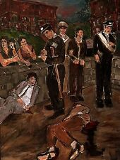 "BOB DYLAN (THE MUSICIAN) ART PRINT BRAZIL ""THE INCIDENT"" CRIME POLICE VICTIM"