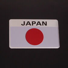 3D Aluminum Car Japan JPN JAP JP Flag Logo Emblem Badge Sticker Decal Rear Truck