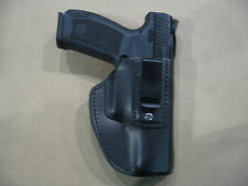 Canik TP9, TP9sa 9mm IWB Leather In The Waistband Conceal Carry Holster Black RH