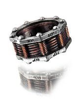 Hi-Voltage Ring Size T - Alchemy Gothic Empire Steampunk Jewellery R149