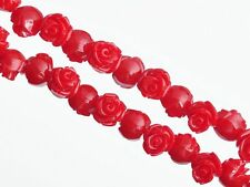 Red Color 20pcs 10mm Resin Flower Shape Charms Loose Spacer Beads New