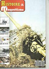 HISTOIRE&MAQUETTISME N°09 U-BOOT VII C / LES AS DE 14-18 / OBUSIER 15CM ALLEMAND