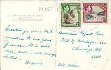 1950 Jamaica Cover West Isle to Chicago Georg VI Postage Stamps