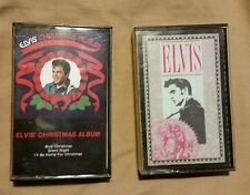 ELVIS PRESLEY CASSETTE TAPES LOT OF 2 CHRISTMAS ALBUM & CHRISTMAS CLASSICS