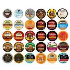 30 COFFEE HOT COCOA CHOCOLATE CAPPUCCINO TEA Single Serve K Cup Variety