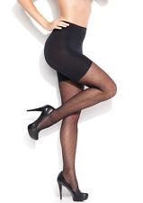 Star Power By SPANX Black Patterned Shaping Sheers Dots Tights BNIP