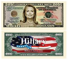 200 Hillary Clinton President Money Fake Dollar Bills 2016 Novelty Million Lot