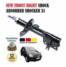 FOR NISSAN QASHQAI 1.6i 1.5DCi 2007--  NEW FRONT RIGHT SHOCK ABSORBER SHOCKER X1