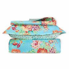 Great Quality 3 piece Quilt Bed Set 2 Pillow Cases and 1 Quilt 3 Sizes 6 COLORS!