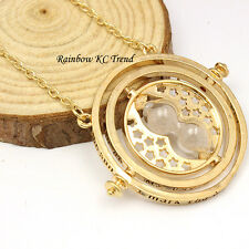 Harry Potter Time-Turner Hourglass Pendant Necklace 18K Gold Plated/Tone