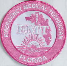 "Florida EMT Patch - PINK Breast Cancer Awareness - 4"" - FREE SHIPPING"