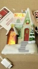 2009 HALLMARK CAROLING COTTAGES NOEL SYNCHRONIZED MUSIC & LIGHTS NEW WITH TAG