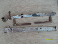 Pair of Wrought Iron Metal Barn / Gate strap hinges with hangers