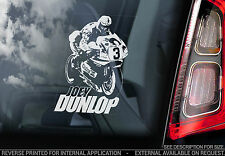 Joey Dunlop - Car Window Sticker - Isle of Man TT#3 Superbike Sign Gift - TYP2