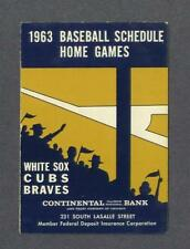 Chicago Cubs & Chicago White Sox 1963 Baseball Schedule