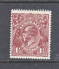 KGV  1 1/2d  RED BROWN  LARGE MULTI WMK     *****MH***** ...